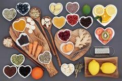Zimno i Grypowy lekarstwa jedzenie obraz royalty free