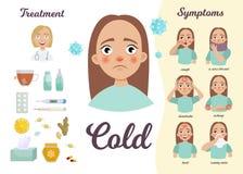 Zimno infographic royalty ilustracja