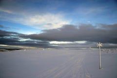 zimno ślady Zdjęcie Royalty Free