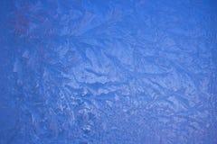 Zimno mrozu wzory na szkle zdjęcie stock