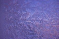 Zimno mrozu wzory na szkle obrazy royalty free