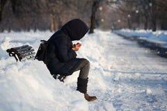 zimno na zewnątrz Zdjęcia Royalty Free