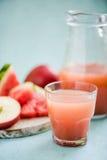 Zimno naciskający jabłczany sok i arbuz - obrazy royalty free