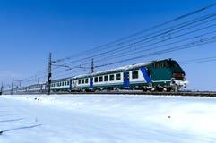 zimno pociąg Fotografia Royalty Free