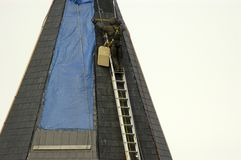 zimno steeplejack zdjęcie royalty free