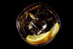 zimno szklanka alkoholu zdjęcie stock