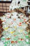 Zimny alkoholiczki Margareta koktajl Szkło z napojów stojakami na szkło stojaku Obrazy Stock