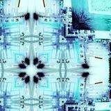 Zimny błękitny abstrakcjonistyczny projekt obrazy royalty free