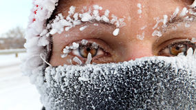Zimny bieg Zdjęcia Royalty Free