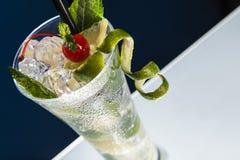 Zimny cocktiail szczegół Obrazy Royalty Free