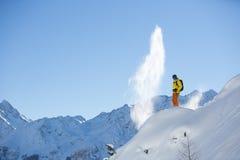 Zimny dnia narciarstwo zdjęcia stock