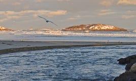 Zimny dzień na wybrzeżu Obraz Royalty Free