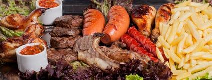 Zimny i gorący mięso set Fotografia Stock