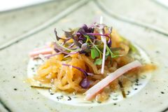 Zimny jellyfish jedzenie obrazy royalty free