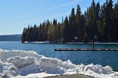 zimny jezioro Zdjęcia Stock