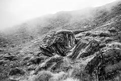 Zimny kamienny czarny i biały Obrazy Royalty Free