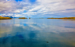 Zimny lato w Iceland Obrazy Stock