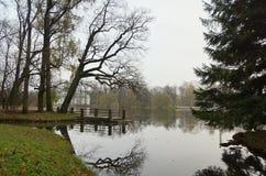 Zimny Listopadu ranek w Catherine parku Zdjęcia Stock
