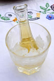 Zimny śliwkowy brandy lub schnapps Zdjęcie Stock
