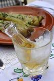 Zimny śliwkowy brandy lub schnapps Fotografia Stock