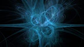 Zimny niebieska linia abstrakta tło Obraz Royalty Free