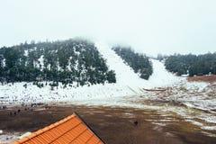 Zimny piękny śnieżny dzień w lodzie w zimie zdjęcia royalty free