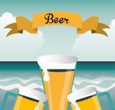 Zimny piwo ilustracji