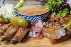 Zimny smakowity bufet - zakończenie Fotografia Stock