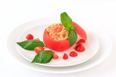 Zimny spaghetti tomatosauce obraz stock