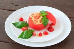 Zimny spaghetti tomatosauce obraz royalty free