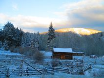 Zimny Stary rancho obrazy royalty free