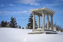 Zimny Tennent cmentarz Zdjęcie Royalty Free