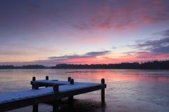 Zimny wschód słońca Zdjęcia Stock