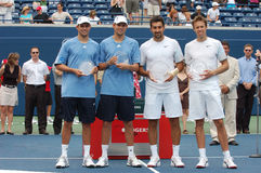 Zimonjic & Nestor & brothers Bryan (38) Royalty Free Stock Photo