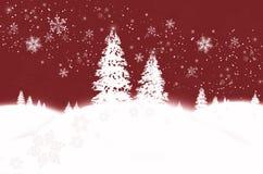 zimowa kraina czarów czerwona ilustracji