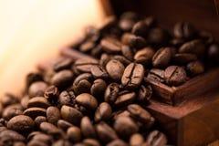 Zimtaromen des Kaffees Stockfoto