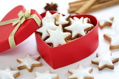 Zimtstern , homemade christmas cookies Royalty Free Stock Photo