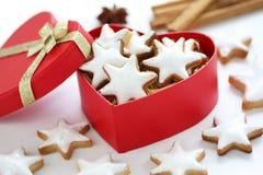 Zimtstern , homemade christmas cookies royalty free stock photo