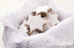 Zimtsterne - christmas cookies Stock Image