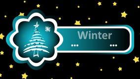 Zimy ładowanie i choinek gwiazdy ilustracji