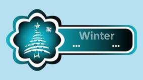 Zimy ładowanie i choinki błękit royalty ilustracja