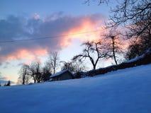 Zimy światło słoneczne Zdjęcia Stock