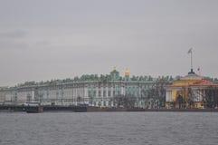 Zimy admiralicja w St Petersburg i pałac, Rosja Zdjęcie Royalty Free