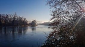 Zimy athmosphere w Schaffhausen fotografia stock