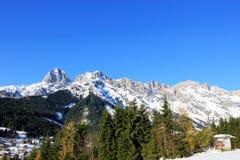 Zimy Austria góra w Alps obrazy stock