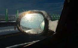 Zimy autostrada Fotografia Royalty Free