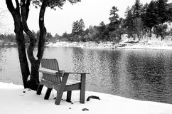 Zimy ławka Zdjęcia Stock