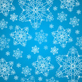 Zimy błękit, białego bożego narodzenia tło i tekstura z płatkami śniegu/ Obrazy Royalty Free