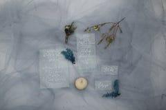 Zimy błękita dekoracja Fotografia Stock