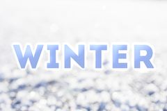 Zimy błękitny słowo Obrazy Royalty Free